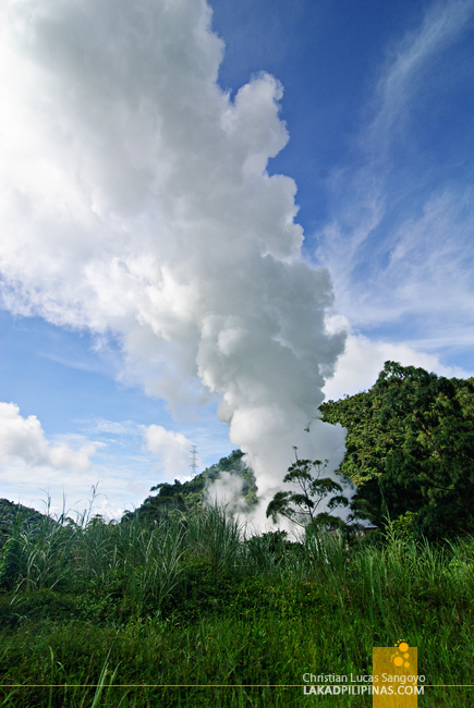 Geothermal Steam at Bicol's BacMan Geothermal Plant