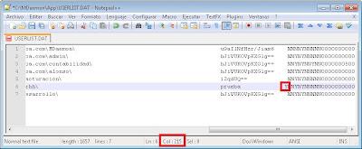 Opción por defecto de MDaemon para guardar las cuentas de usuario en fichero USERLIST.DAT