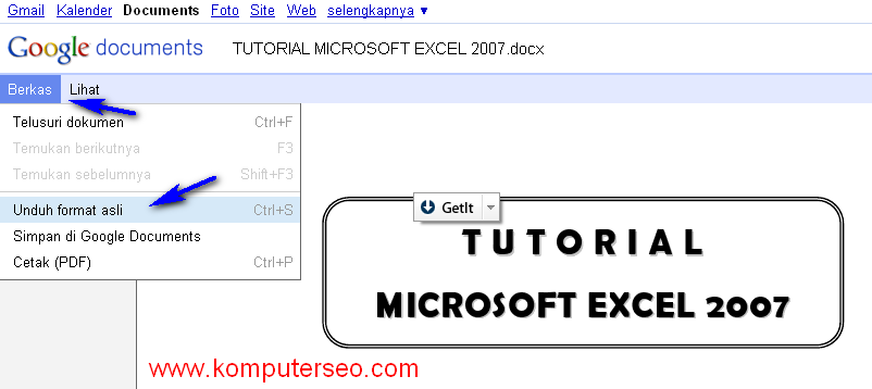 Download Tutorial Microsoft Excel 2007 Bahasa Indonesia ...