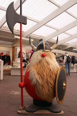 Viking in a gift shop on the Golden Circle in Iceland