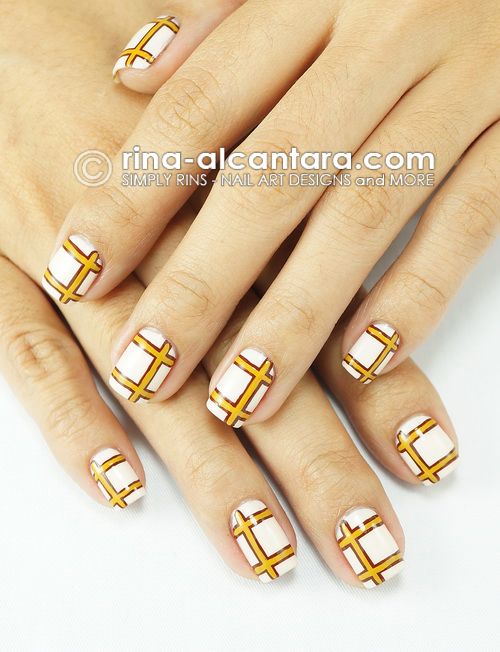Lined Nail Art Design