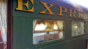 Part of the John Galt Express on the property, seemingly for special occasions at the Cline Cellars grounds