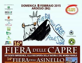 16a Fiera delle Capre e 14a dell'Asinello   7 e 8 Febbraio 2015 Ardesio (ValSeriana/Bergamo)