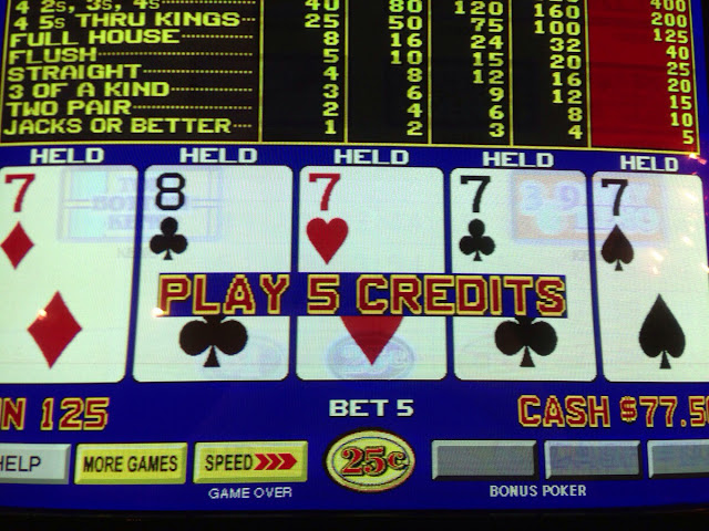 Video Poker Quad 7s