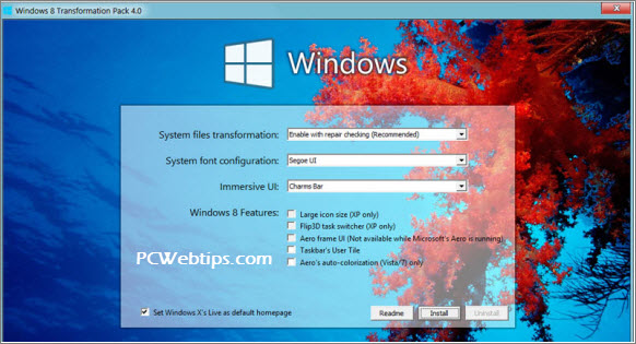 Windows 8 Pack Transformation gratis