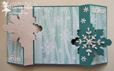 stampin up, thinlits snowflake card, schneekristall karte, dp stille nacht, dsp all is calm, frosted sequins, christmas, weihnachtskarte