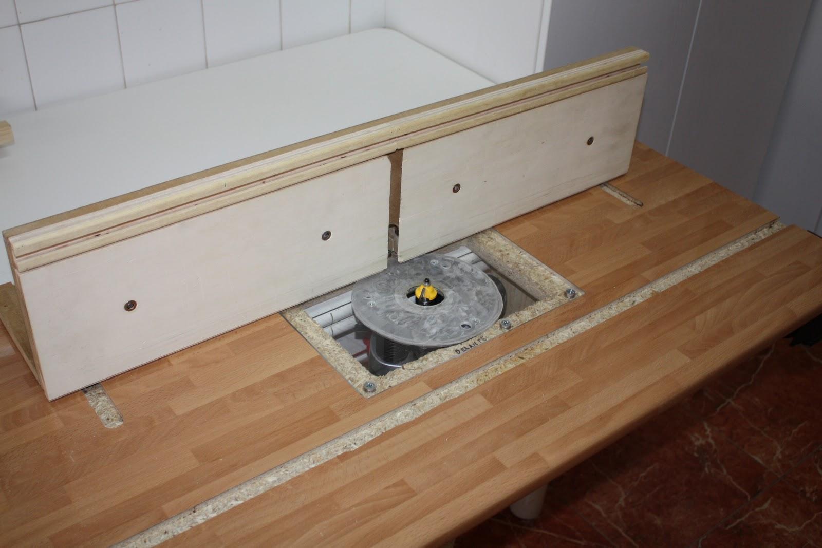Brico carpinteria mesa para fresadora for Mesa fresadora casera