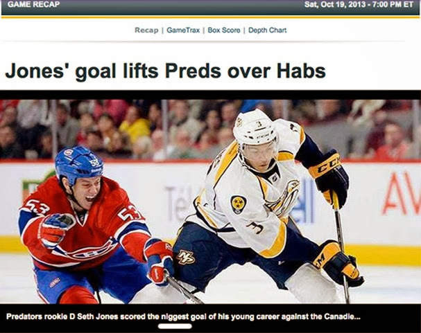 Fox website racist typo about black hockey player