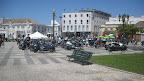 El centre de Faro, ple de motos