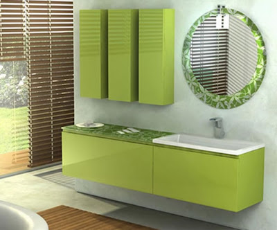 Refreshing Green Bathroom Interior Design