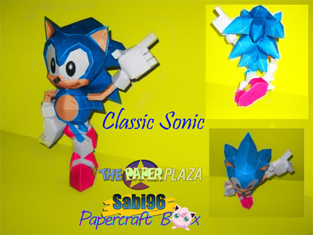 Sonic the Hedgehog Paper Model