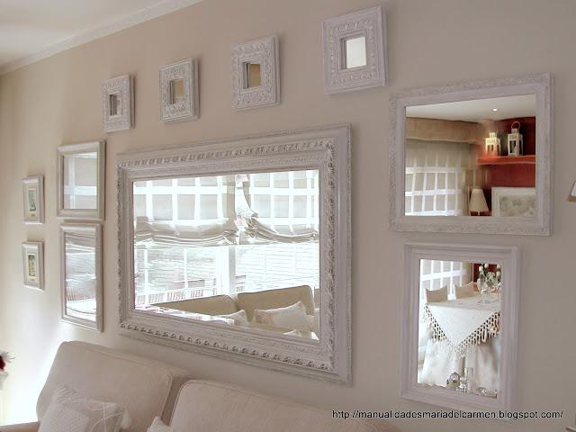 Manualidades la ventana de maria del carmen decoraci n for Decoracion con espejos grandes