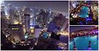 Malucos Interrompem Festa Ao Saltar Da Gigante Kuala Lumpur Tower Para Dentro Da Piscina De Arranha-céus!! TENS DE VER ISTO!!