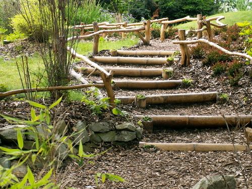 escada jardim madeira : escada jardim madeira:Crie Jardim: Idéias para jardins – escadas