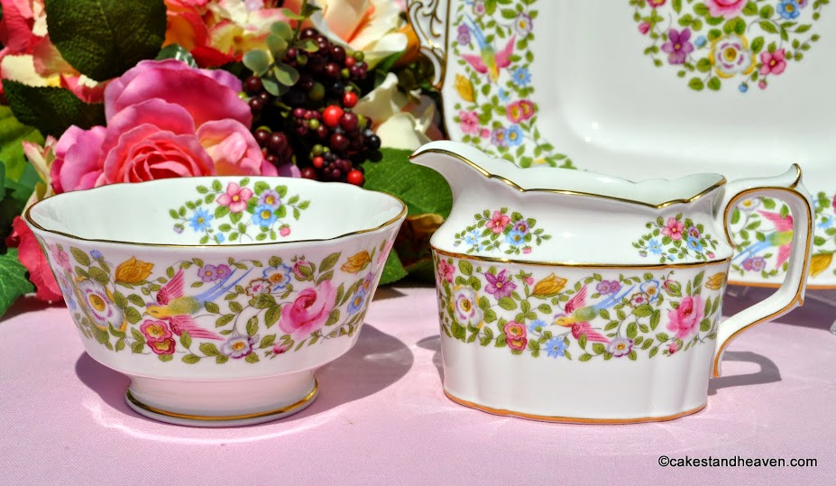 Royal Crown Derby A454 Vintage Floral Milk Jug and Sugar Bowl