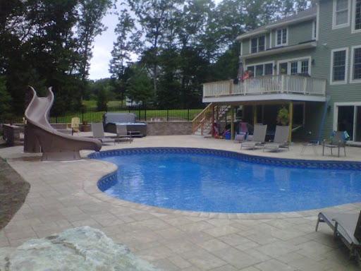 pool slide installation West Newbury Massachusetts