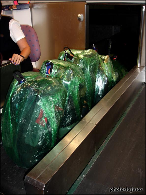 Facturando las maletas