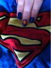 Superman nailart