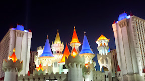 The outside of Excalibur in Las Vegas.