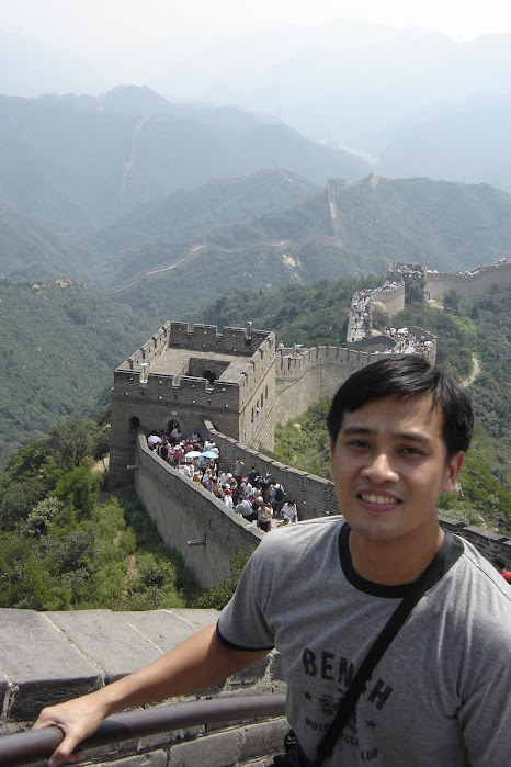 PauTravels Standing on the Great Wall of China