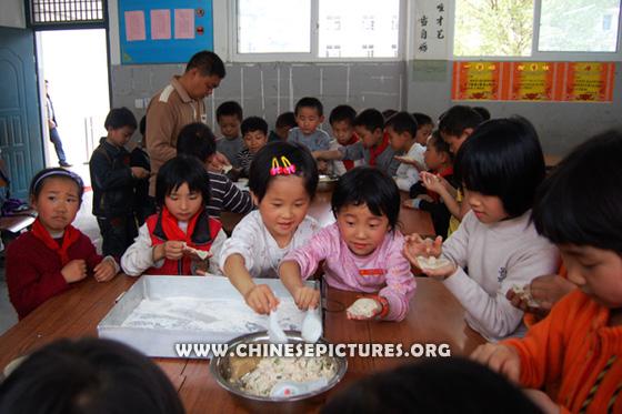 Chinese Kids and Dumplings Photo 2