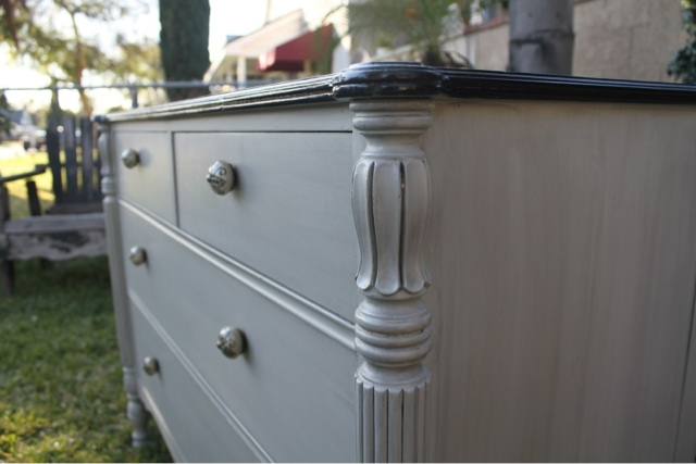 dresser, gray