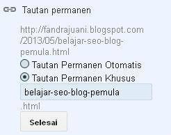 mengatur tautan permanen seo blog