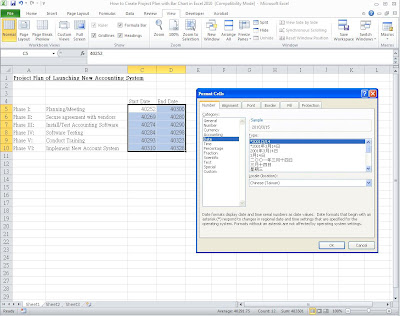 how to create a schedule in excel