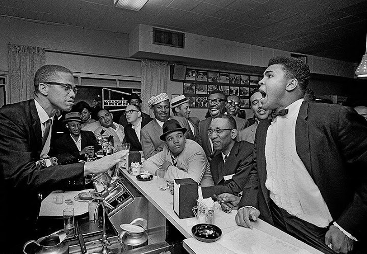 Malcolm X and Muhammed Ali Photo By Bob Gnome For Life Magazine