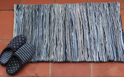 Denim Rag Rug Jeans Refashioning