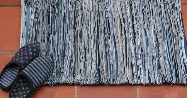 Communing With Fabric Denim Rag Rug Jeans Refashioning