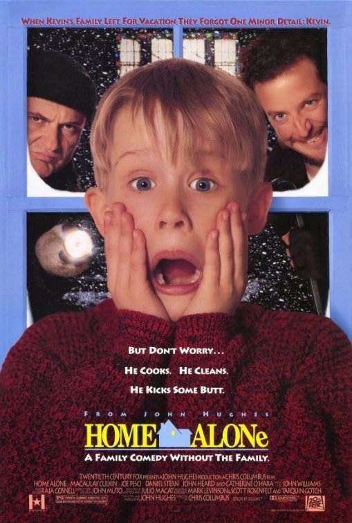 Poster Of Home Alone (1990) Full Movie Hindi Dubbed Free Download Watch Online At Alldownloads4u.Com