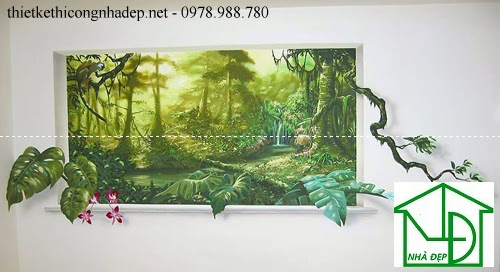 Tranh tường được vẽ y hệt như một bức tranh thật
