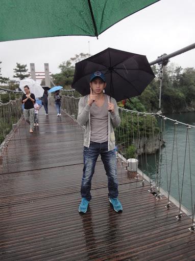 Raining in Jeju Island
