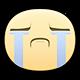 Weeping Facebook sticker