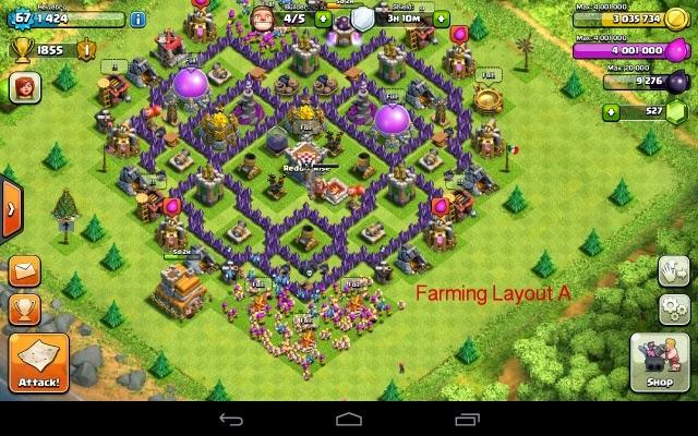 Clan wars th7 trophy base design