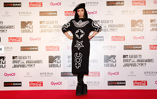 Miliyah Kato on the red carpet | MTV Video music awards Japan 2012
