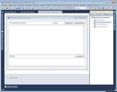 Aplicación cliente para conexión por socket con Visual Basic .Net