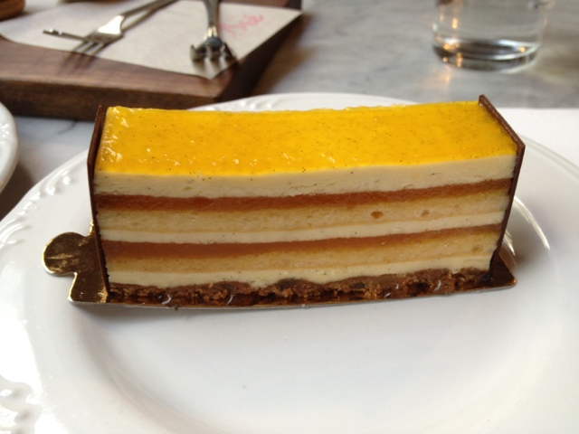 Passion And Mango Cake With Chocolate Base In Melbourne