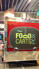 Food Carts PDX, the food carts available presecurity at the Portland Airport PDX include Pok Pok Wing which has the Ike's Vietnamese Fish Sauce Wings that Pok Pok is famous for, besides also Mantou and a Thai Curry dish