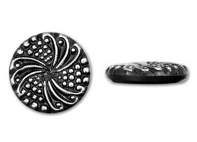 Silver Pinwheel Glass Cabochon