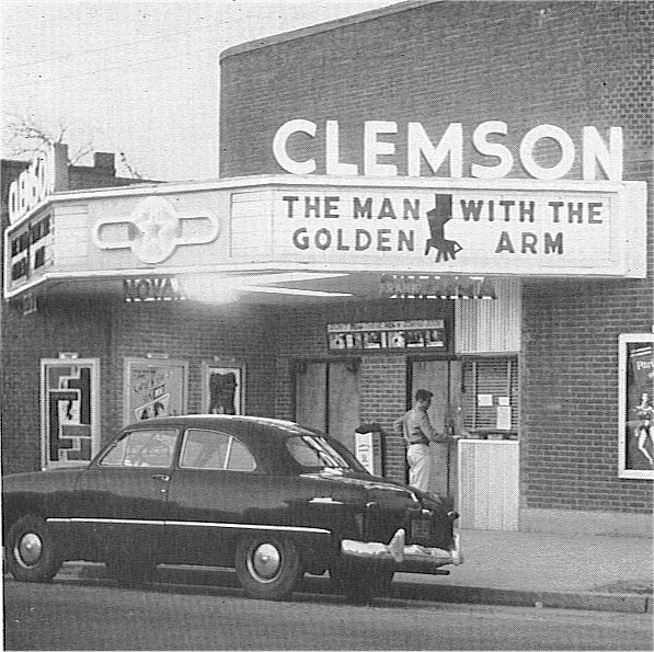 Mintaka's Historic Clemson Photos Photos - 1955, Clemson Theater, Downtown Clemson, Mintaka