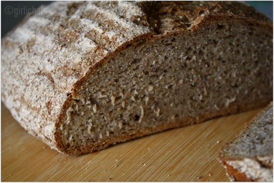 No-Knead Whole Grain Rye Bread