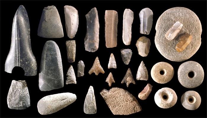 Colección de herramientas de piedra del neolítico. Fuente: Lithic Casting Lab.