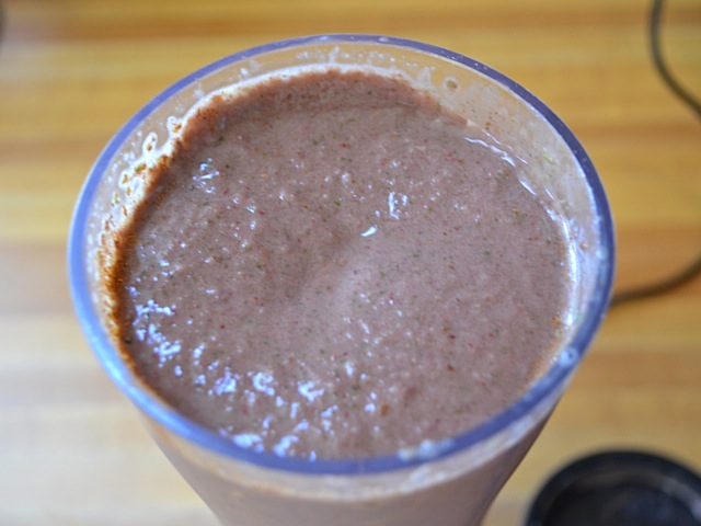 top view of a cup of blended smoothie