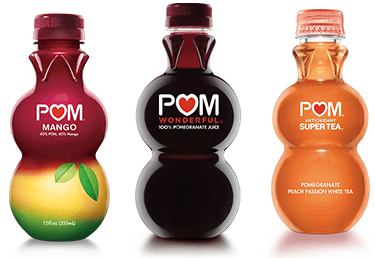 Have you ever tried POM Wonderful products? They are super yummy and contain 100% juice, so they are super good for you, too!
