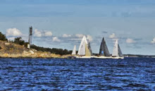 J/80s sailing DataComm Cup off Sweden