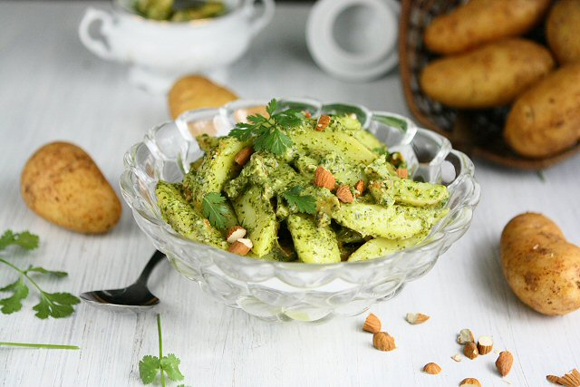 Canarian potato salad aka potato salad with mojo de cilantro for Angie s african cuisine