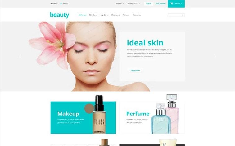 лучший бесплатный шаблон темы ботстрапа сайт красоты косметика для девочек