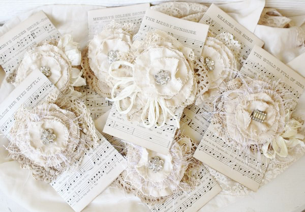 Vintage Lace Cuffs & Tattered Roses